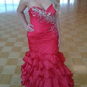 Prom pageant gown